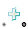 Cross logo vector image