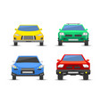 flat car vehicle type design front view style vector image