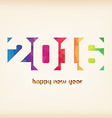 Happy new 2016 year Colorful Triangles polygons vector image