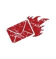 Red grunge hot letter logo vector image