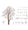 set of branches and tree vector image
