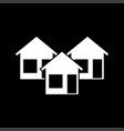 three house it is icon vector image