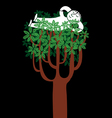 tree nap vector image