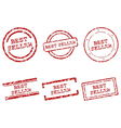 Best seller stamps vector image vector image