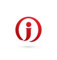 letter j logo icon design template elements vector image