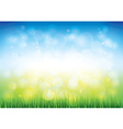 blue sky grass vector image vector image