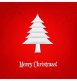 Christmas Card With Paper Fir-tree vector image vector image