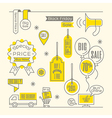 Set of Sale tags Label shopping design elements vector image