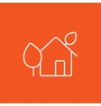 Eco-friendly house line icon vector image