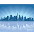 seattle washington skyline vector image vector image
