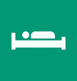 Bed Hotel Sign Icon vector image