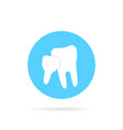 blue icon of family dentistry isolated on white vector image