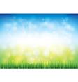 blue sky grass vector image