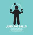 Juggling Balls Symbol vector image
