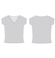 ladies vneck tshirt template vector image