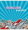 seafood organic food concept vector image
