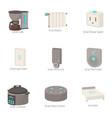 smart technology icons set cartoon style vector image