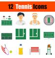 Tennis icon set vector image