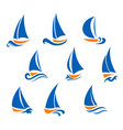 Yachting and regatta symbols vector image