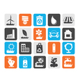 Flat Ecology and nature icons vector image vector image