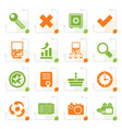 stylized internet and web site icons vector image vector image