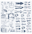 business idea doodles icons set vector image