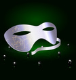 silver carnival half mask vector image vector image