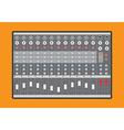 Analog audio mixer vector image vector image