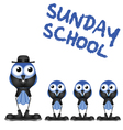 SUNDAY SCHOOL vector image vector image