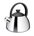 An isolated tea kettle on a white background vector image