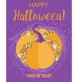 Halloween glamorous sparkling pumpkin vector image