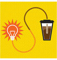 light-coffee vector image