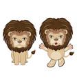 lion sitting pose vector image