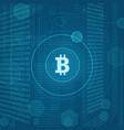 modern concept of bitcoin vector image