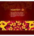 Orange ornament for text vector image