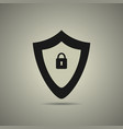 protection icon in flat style vector image