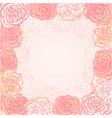 Valentine flower stripe invitation love card vector image