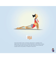 polygonal of woman in the yoga pose modern fitness vector image