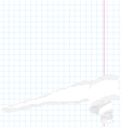 torn exercise book vector image