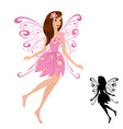 fairy girl with flowers vector image