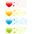 A colorful love abstract background vector image