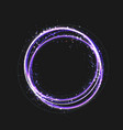 blue gold circle light effect with round glowing vector image