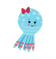 cute cartoon octopus baby toy colorful vector image