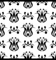 floral black seamless pattern vector image