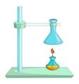 Laboratory equipment icon cartoon style vector image
