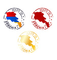 made in Armenia stamp vector image