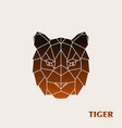 polygonal tiger head wild animal vector image