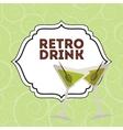 retro drink vector image