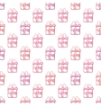 Seamless gift pattern on white background vector image