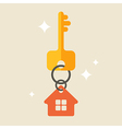 House keys with Red House Key chain vector image